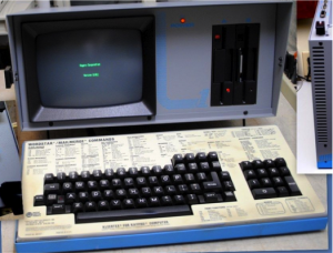 The KAYPRO computer was one of the first affordable PC's available... manufacturered by Osborne Computer.