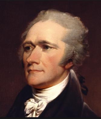 An image familiar to us through regular use of U.S. currency: Alexander Hamilton.