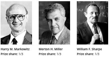 Harry Markowitz, Merton Miller, William Sharpe
