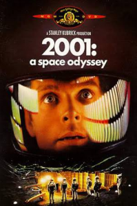 """This cover image for the """"2001: A Space Odyssey"""" DVD shows a mesmerized """"Dave""""... who had to overcome the HAL 9000 as well as the dangers of space travel!"""