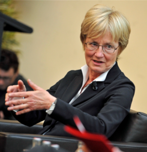 Mady Delvaux authored a report advocating regulation of robots within the EU.